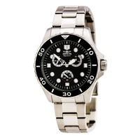 Invicta 7024 Men's Signature II Black Dial Steel Bracelet Watch