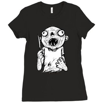 zombie knife Ladies Fitted T-Shirt