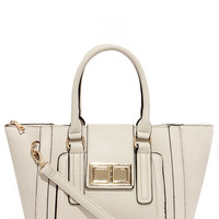 Window Shopper Beige Tote