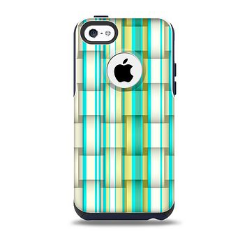 The Vivid Green and Yellow Woven Pattern Skin for the iPhone 5c OtterBox Commuter Case