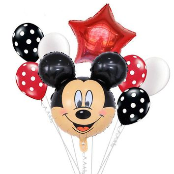 MICKEY BALLOONS, Mickey Birthday Party Decoration. Mickey Mouse Giant Head Balloon | Disney Theme Party | Mickey Party Balloon Bouquet