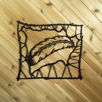 Wall Art Western Metal Black Painted Hide By PrecisionCut