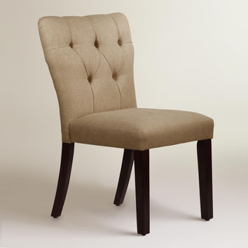 Linen Tufted Gabie Dining Chair - World Market