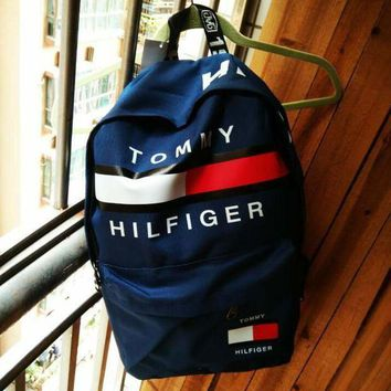 TOMMY HILFIGER: Fashion Women Men Schoolbag Bag Backpack For Boy With Girl Navy blue