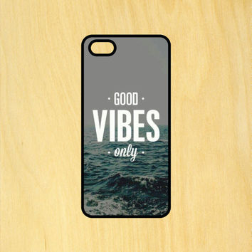 Good Vibes Only V2 Ocean Phone Case iPhone 4 / 4s / 5 / 5s / 5c /6 / 6s /6+ Apple Samsung Galaxy S3 / S4 / S5 / S6