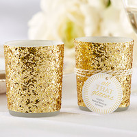 All That Glitters is Gold Glitter Candle Holder Favors (Set of 4)
