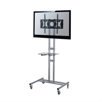 Mobile TVstand Modern Adjustable Height Cart for Flat Screen TVs 32 To 60 Inch