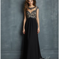 Night Moves by Allure 2014 Prom Dresses - Black Chiffon Open Back Prom Dress