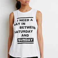 Saturday And Sunday Muscle Tee