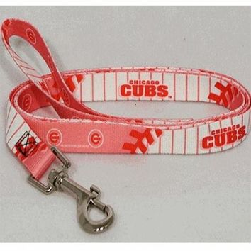ONETOW Chicago Cubs Pink Dog Leash
