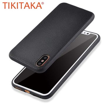 Luxury Leather Soft Back Cover Durable Shockproof Armor Case