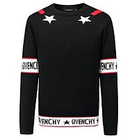 GIVENCHY Fashion Women Men Casual Long Sleeve Round Collar Sweater Pullover Top Sweatshirt