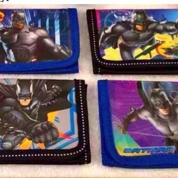 Batman Dark Knight gift Christmas 12Pcs Super Hero Batman Coin Purse Cute Kids Cartoon Wallet Bag Pouch Children Purse Small Wallet Party Gift AT_71_6