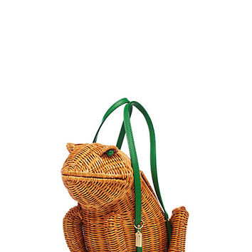 Kate Spade Spring Forward Wicker Frog Natural/Sprout Green ONE