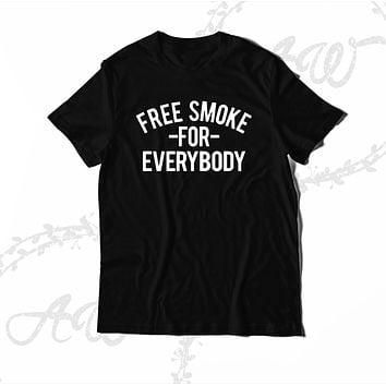 Free Smoke vs Everybody Graphic Unisex T Shirt