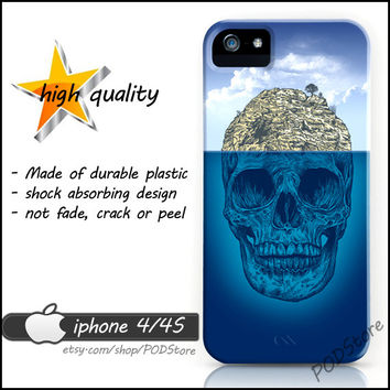Blue Ocean Skull iphone 4 case Day Of The Dead Anchor Death Skull iphone4 casing