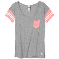 Side Split Pocket Tee - PINK - Victoria's Secret