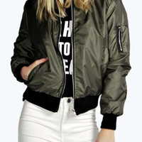 Dark Green Zippered Jacket