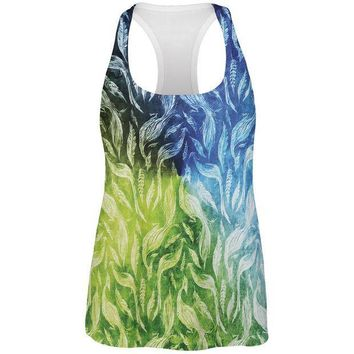 CREYCY8 Peacocks And Feathers All Over Womens Work Out Tank Top