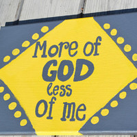 More of God Quote on 8x10 Canvas