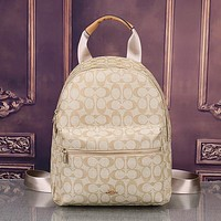 COACH Women Shopping Leather Shoulder Bag Satchel Bookbag Backpack