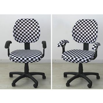 Modern Spandex Universal Office Chair Covers Stretch Rotating Lift Computer Chair Cover Easy Washable Removable