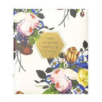 Floral Geo Address Book