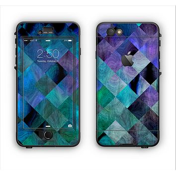 The Multicolored Tile-Swirled Pattern Apple iPhone 6 Plus LifeProof Nuud Case Skin Set