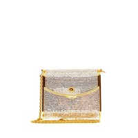 Buy Judith Leiber Clutch Crystal Small Silver 79904