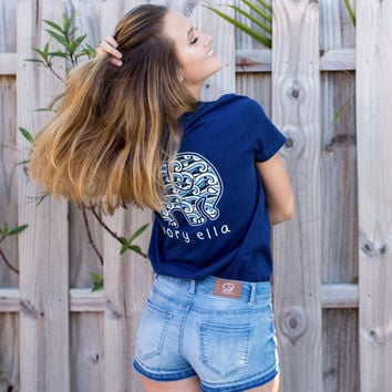 Perfect Fit Navy Waves Tee