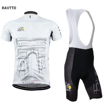 Tour de France Team Men Cycling Clothing Short Sleeve Summer Road Bike Jerseys Ropa Ciclismo/Cycling jersey White