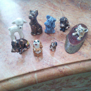 Vintage animal miniatures