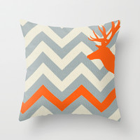 lone Dear Throw Pillow by beoriginal