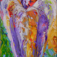 "Angel Painting  ""Guardian Angel"" 11""x14"" Canvas Ready To Hang by Claire McElveen"