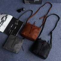 Korean Rinsed Denim Soft Simple Design Vintage One Shoulder Messenger Bags [4915814468]