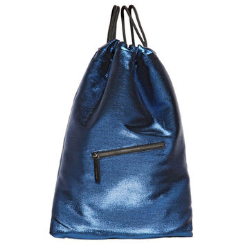 Midnight Blue Drawstring Pack by Jil Sander