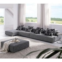 Tosh Furniture Zebrano Fabric Sectional Sofa | Modern Furniture For Home