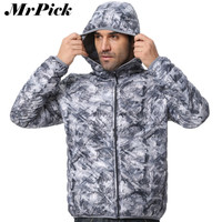 Fashion Ultralight Coats Men Slim Fit Camouflage Hooded Down Jacket 90% Duck Down Plus Size Men Clothes 4 Color Z1927-Euro