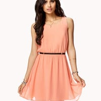 Crisscross Back Sleeveless Dress