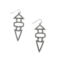 Women's Geometric Earring in Silver by Daytrip.