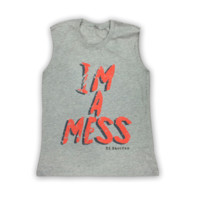 Grey I'm A Mess Ladies Vest