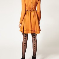 Gipsy | Gipsy Back Seam Hearts Tights at ASOS