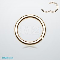 Gold Plated Seamless Clicker Ring