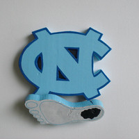 Wooden University of North Carolina Tarheels Logo