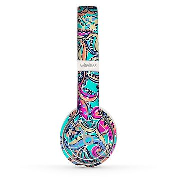 The Bright WaterColor Floral Skin Set for the Beats by Dre Solo 2 Wireless Headphones