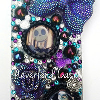 Custom Haunted Mansion or Nightmare Before Christmas Phone Case Halloween iPhone Bling Case Cover Rhinestone Jack Sally Phone iPhone 6 5 5S