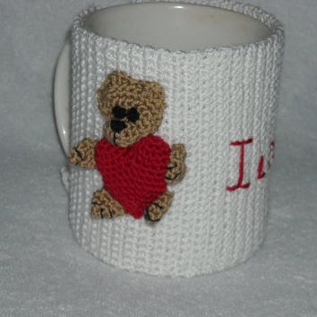 Crochet cup cozy, mug cozy, cup cozy,coffee cup sleeve . Mothers Day