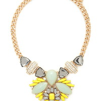 Faux Stone Statement Necklace