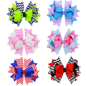 Barrettes Cute Baby Girl Big Bow Clips Boutique Hair Pin Luxury Girls Hairpin Hair Accessories Free Shipping