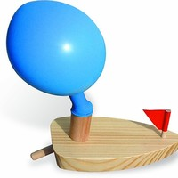 Vilac Balloon Powered Wood Boat